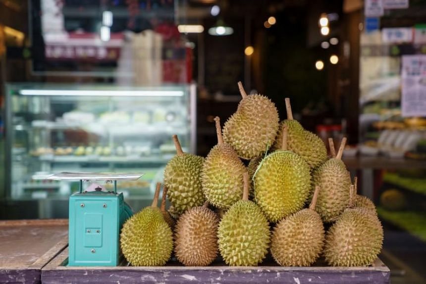 A mao shan wang durian - also known as musang king or civet cat king - is currently selling at $12 to $15 per kg, down from its usual price of between $28 and $35 per kg.