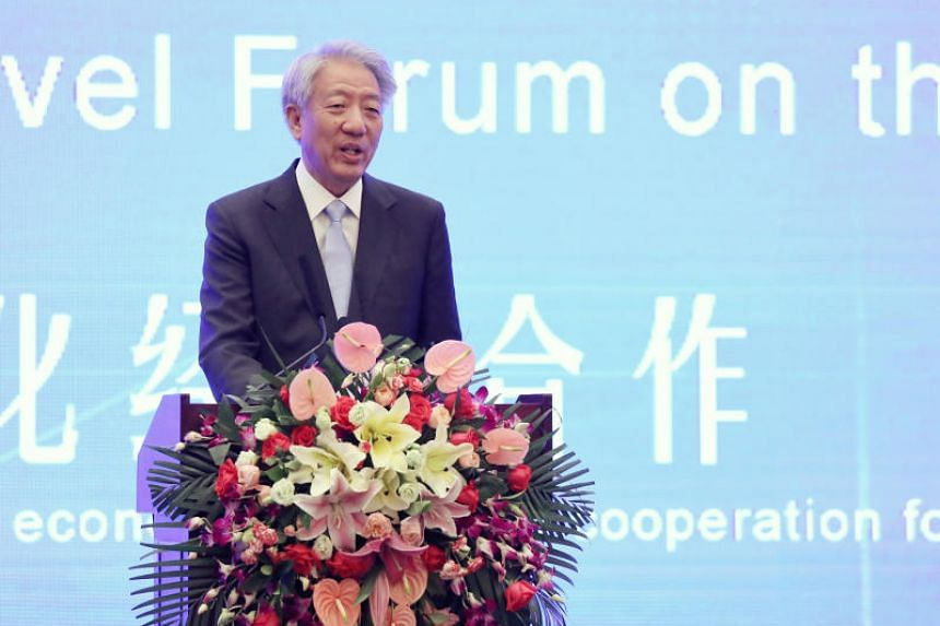 Deputy Prime Minister Teo Chee Hean at the China Lanzhou Investment and Trade Fair on July 5, 2018.