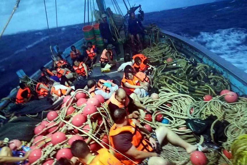 """The boat was carrying 90 passengers when it capsized """"half of them were rescued, the operation is still ongoing"""", an official at the Department of Disaster Prevention and Mitigation."""