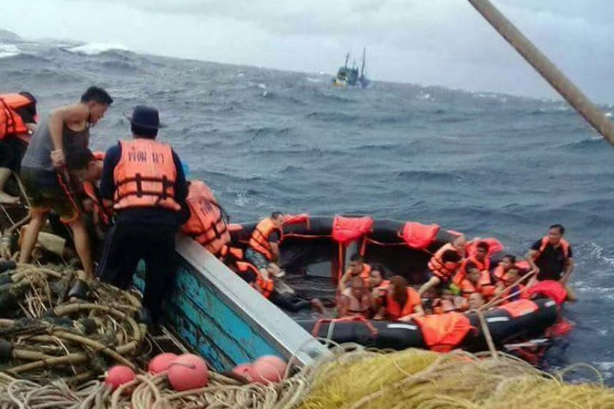 "The boat was carrying 90 passengers when it capsized ""half of them were rescued, the operation is still ongoing"", an official at the Department of Disaster Prevention and Mitigation."