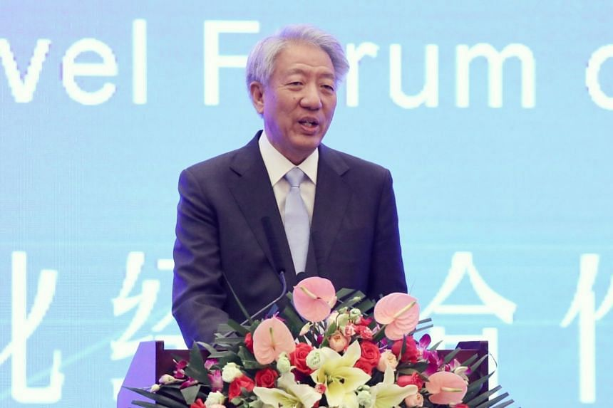 DPM Teo Chee Hean at the China Lanzhou Investment and Trade Fair, on July 5, 2018.