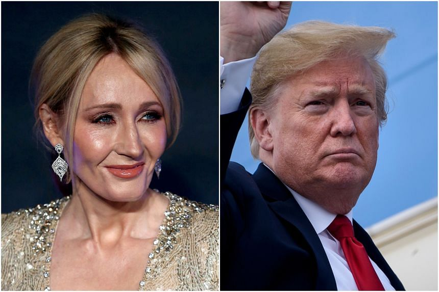 Harry Potter author J.K. Rowling could not contain her laughter after US President Donald Trump defended his spelling skills on Twitter.