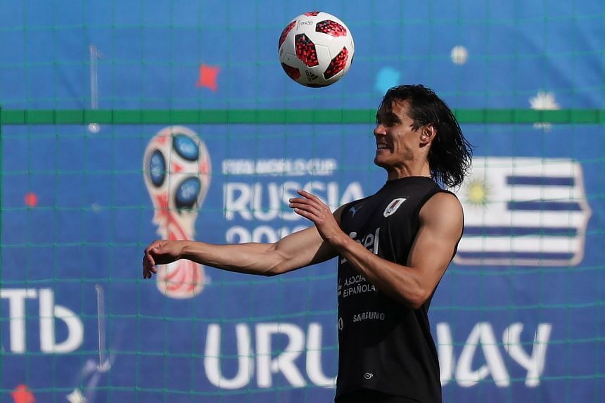 Cavani during a team training session on July 5, 2018.