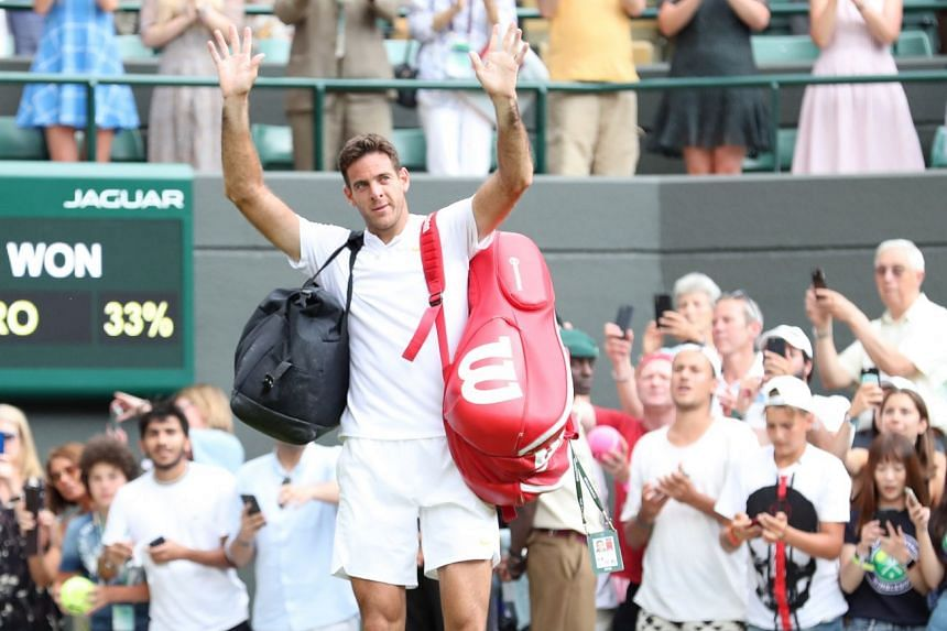 Del Potro celebrates his win over Feliciano Lopez of Spain.