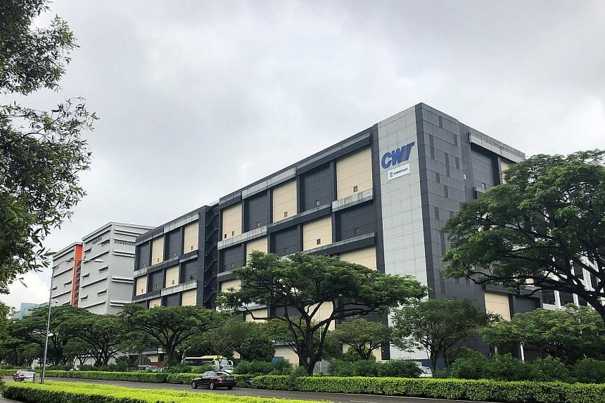 Among the five properties being acquired is 5A Toh Guan Road East (right), adjacent to MLT's existing property, Mapletree Logistics Hub Toh Guan.