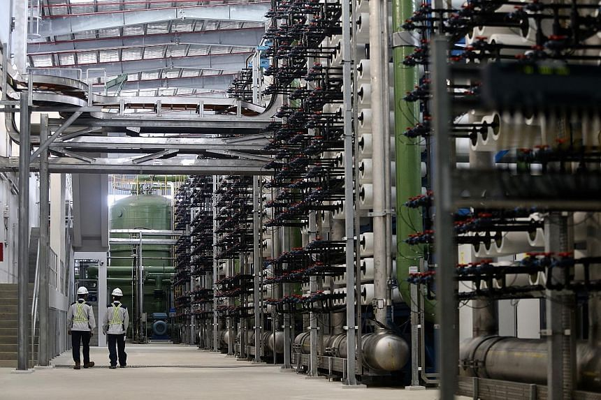 Singapore's third desalination plant officially opened last week. To produce water via desalination or treatment of used water, between five and 17 times more electricity than that used to treat rain water is needed.