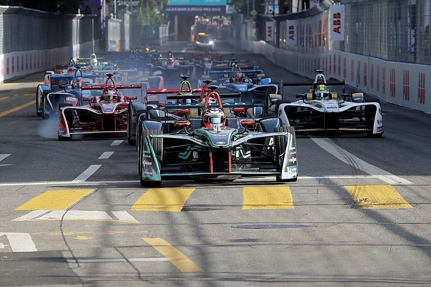 A Formula E race in Zurich last month. Although it is just four years old, Formula E is fast catching on, with cities such as Mexico City, Rome and Paris hosting the event.