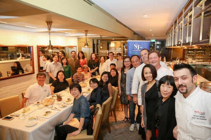 Straits Times' subscribers dined on a six-course dinner prepared by Italian restaurant Fratelli's celebrity chefs Roberto and Enrico Cerea, from three-Michelin-starred Da Vittorio in Bergamo, Italy, on July 6, 2018.
