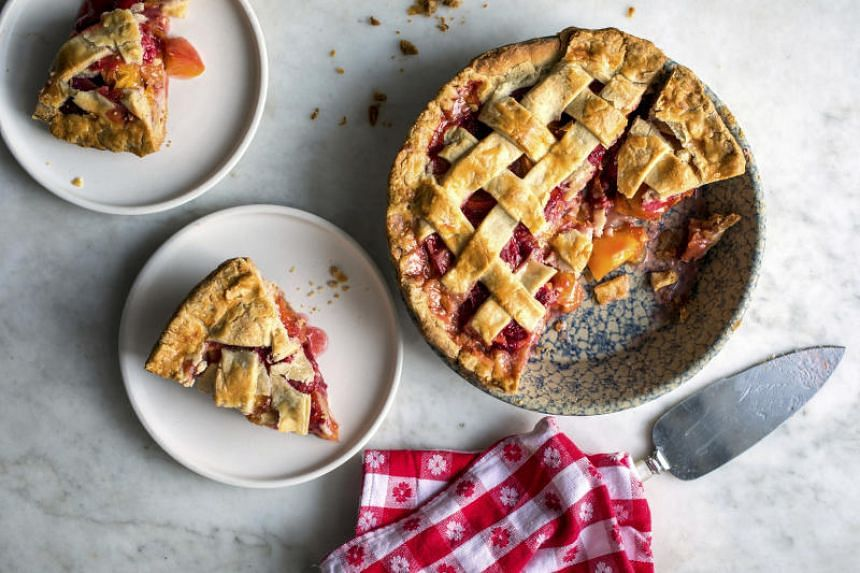 Raspberries go especially well with peaches in this summery pie, but blackberries and blueberries are worthy substitutions.