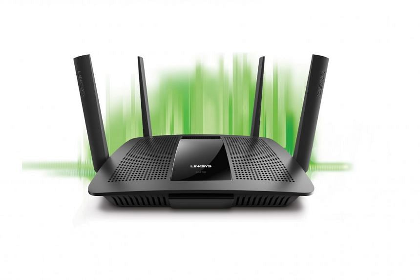 The Dynamic Frequency Selection feature on the Linksys EA8100 router can help to ease network congestion in high-rise apartments. PHOTO: LINKSYS