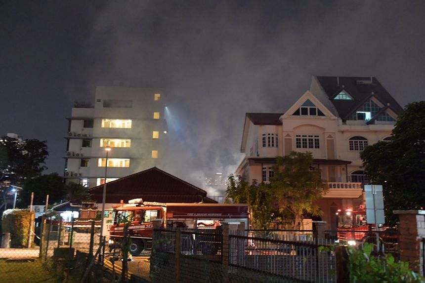 A fire broke out at Sing Avenue on the night of July 6, 2018.