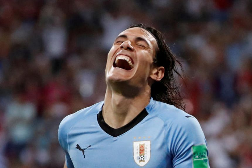 Uruguay striker Edinson Cavani scored two goals in the round of 16 win over Portugal, but limped off before the end of the game with a calf injury.