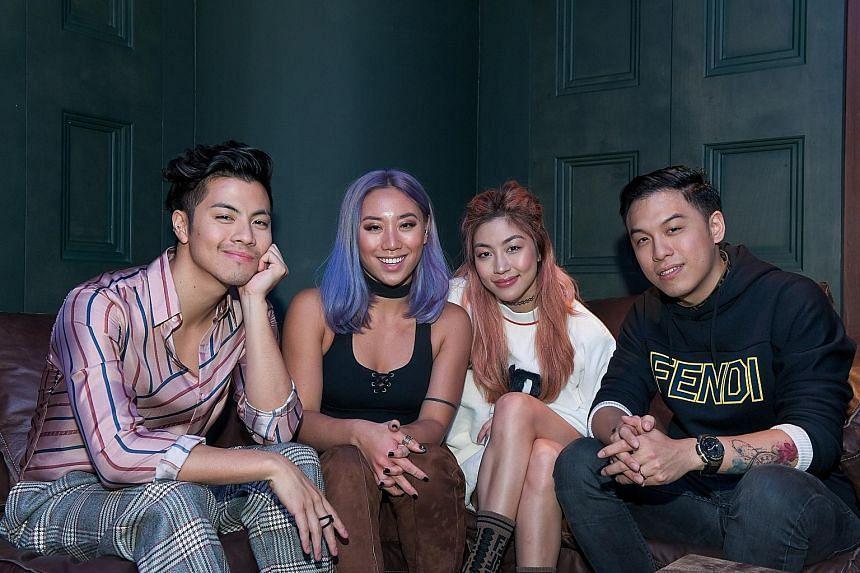 The Sam Willows, comprising (from left) Benjamin Kheng, Sandra Riley Tang, Narelle Kheng and Jonathan Chua, will be at their pop-up store at *Scape tomorrow.
