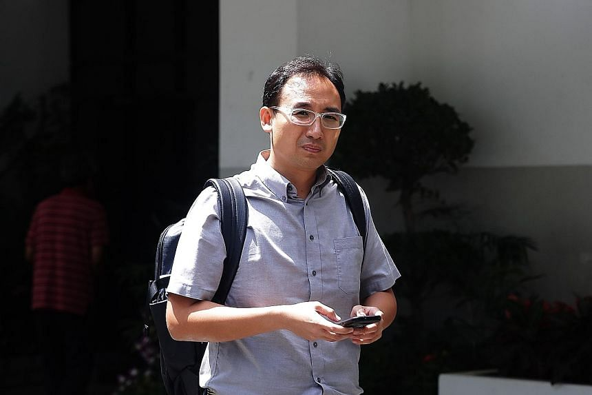 Kelvin Liu Chin Chan (left) faces one charge under the Protection from Harassment Act brought by civil servant Desmond Tay (above). Mr Tay took the stand yesterday to accuse Liu of harassing him with text messages and photographs intended to belittle