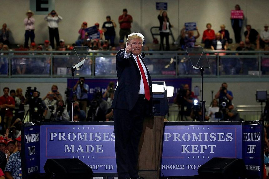 US President Donald Trump at a Make America Great Again rally in Great Falls, Montana, on Thursday. In recent months, Mr Trump has frequently criticised the stark disparity in tariffs imposed on US goods in several countries and their much lower corr
