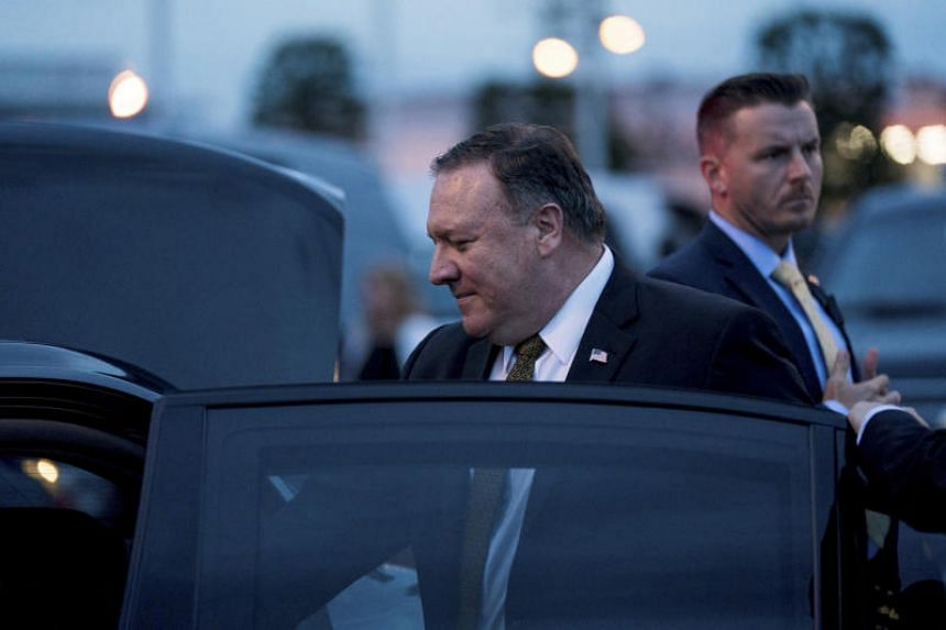 Secretary of State Mike Pompeo arrives at Haneda Airport, in Tokyo, on July 7, 2018.