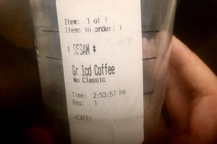 """The customer, who was identified only as Sam, was mocked by the barista, who wrote his name as """"SSSAM"""" on the cup during the incident in Philadelphia on June 27, 2018."""