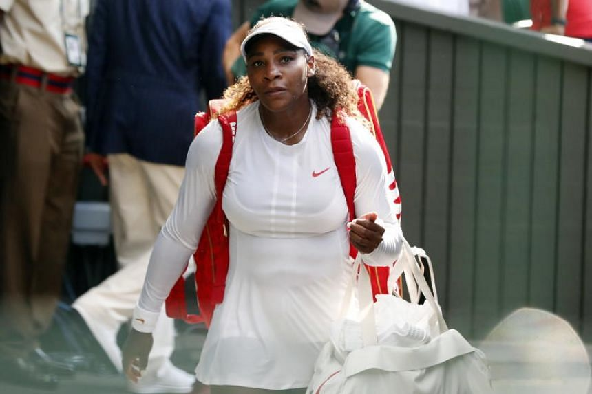 Serena Williams said she had been in training when her daughter Olympia took her first steps.