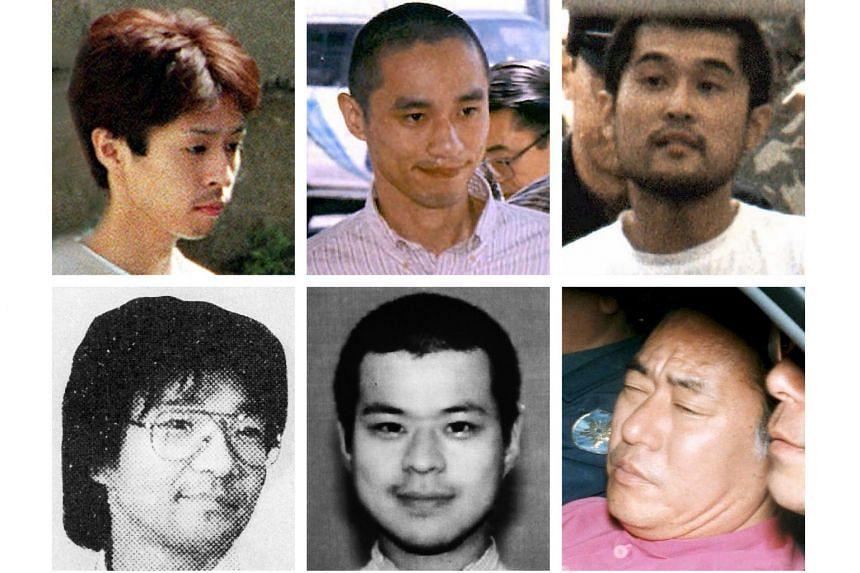 SIX OTHERS EXECUTED (Clock wise from left) Intelligence chief Yoshihiro Inoue, 48, Aum senior member Tomomitsu Niimi, 54, Top chemist Masami Tsuchiya, 53, Aum senior member Kiyohide Hayakawa, 68, Aum officer Tomomasa Nakagawa, 55, Aum officer Seiichi