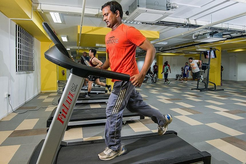At Centurion Corporation's worker accommodation, foreign worker residents seeking recreation and physical wellness can turn to the gym.
