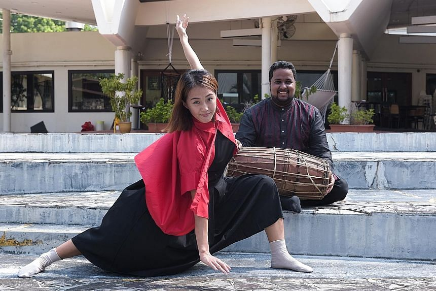 Miss Lim Ming Zhi and Mr Sai Akileshwar worked together to meld Indian percussion with modern dance in a performance that showcased Singapore's multicultural society to diverse audiences from Asean member states. Their event was part of one of the ma