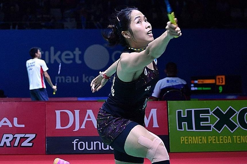 Thailand's Ratchanok Intanon playing in the Indonesia Open in Jakarta this past week, when she was eliminated in the last eight. With just one title this year, she hopes to win the July 17-22 Singapore Open.