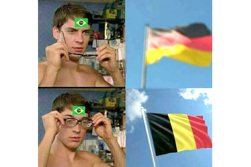 MEME-ORABLE : This may not be the 7-1 humiliation by Germany in 2014, but it is groundhog day for Brazil as their flagging World Cup dreams are crushed again.