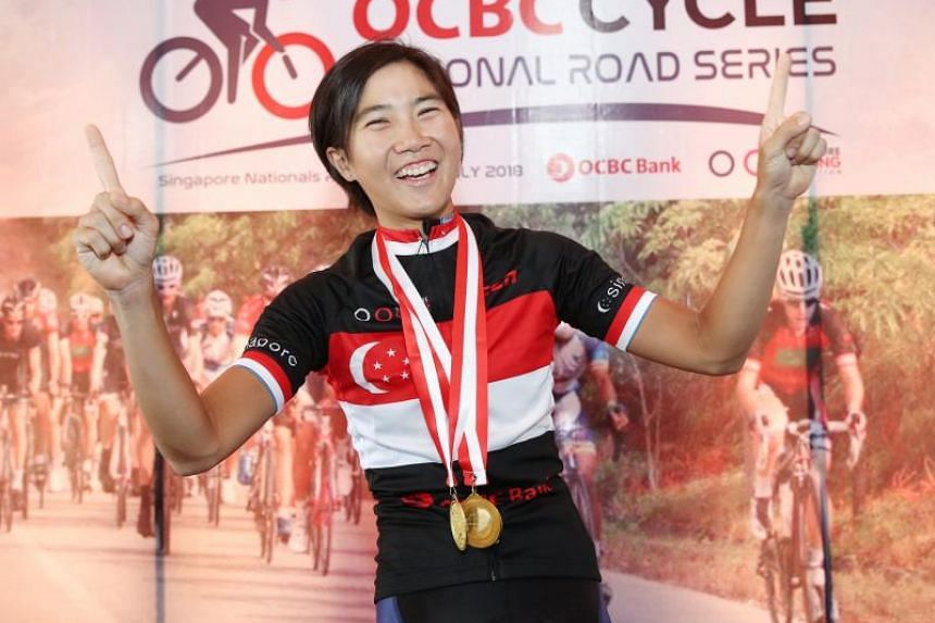 Serene Lee won the women's elite open category at the OCBC Cycle National Road Championship on July 8, 2018.