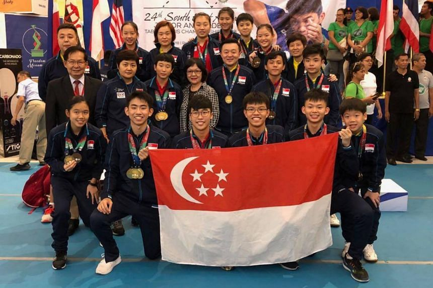 Singapore's youth paddlers won 11 out of 13 titles at the 24th South East Asian Junior & Cadet Table Tennis Championships.