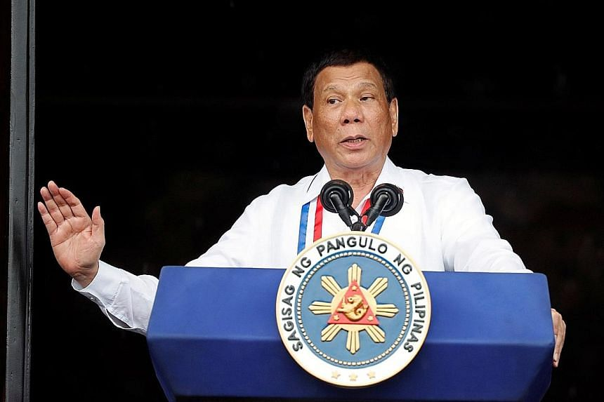Philippine President Rodrigo Duterte at an Independence Day celebration in Kawit town in Cavite province last month.