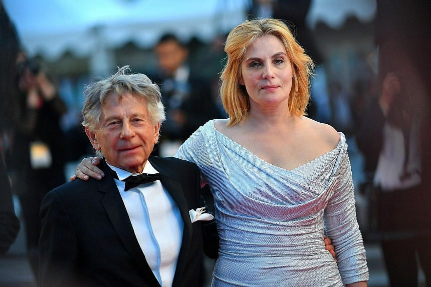 Actress Emmanuelle Seigner slams the Academy of Motion Picture Arts and Sciences for expelling her husband Roman Polanski (both left).