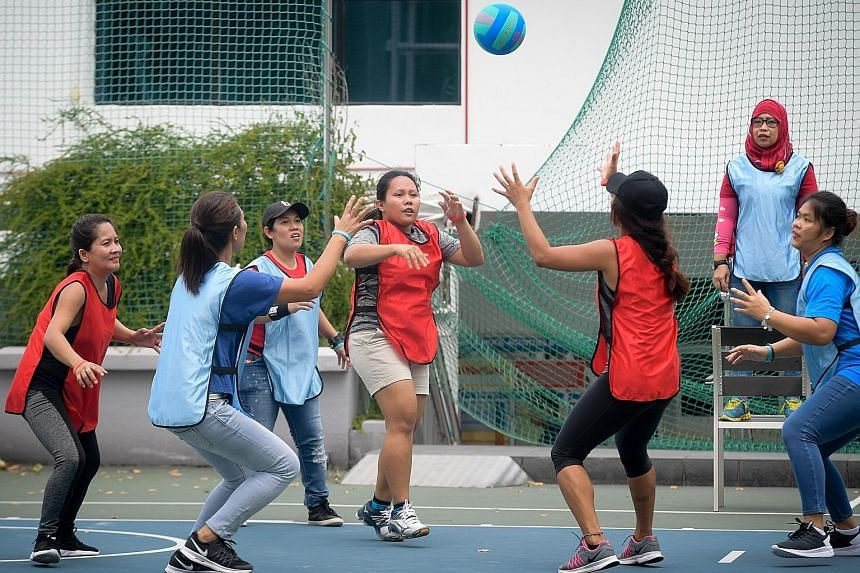 A captain's ball match in progress at the sports day organised by Aidha and Humanitarian Organisation for Migration Economics.