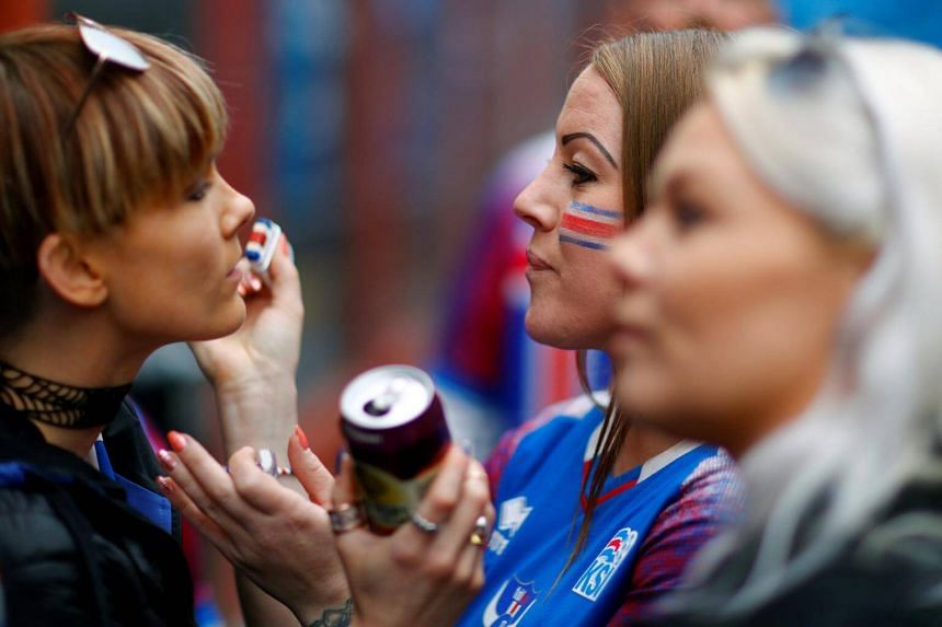File photo showing women in Iceland waiting for a football match between Iceland and Norway in Reykjavik, on June 2, 2018.