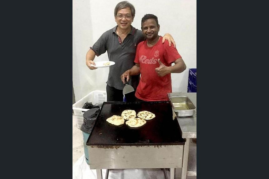 Besides watching football, fans enjoyed a host of activities such as foosball as well as free roti pratas.