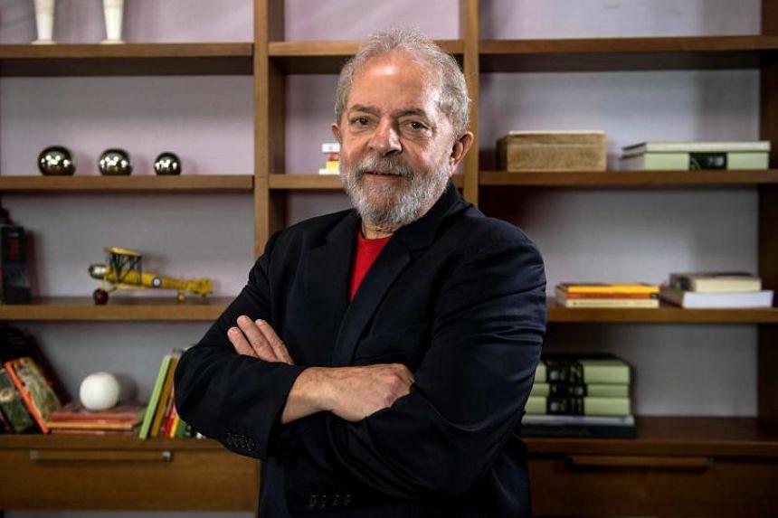 Former Brazilian president Luiz Inacio Lula da Silva at Lula's Institute in Sao Paulo, Brazil, on March 1, 2018.