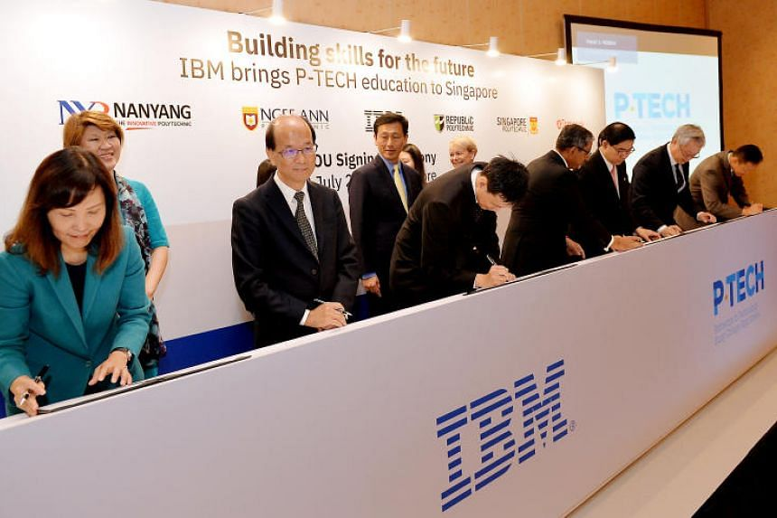 IBM is facilitating the entire programme, called P-TECH or Pathways in Technology Early College High-Schools, providing mentors and opening up its offices to students, and getting corporate partners on board.