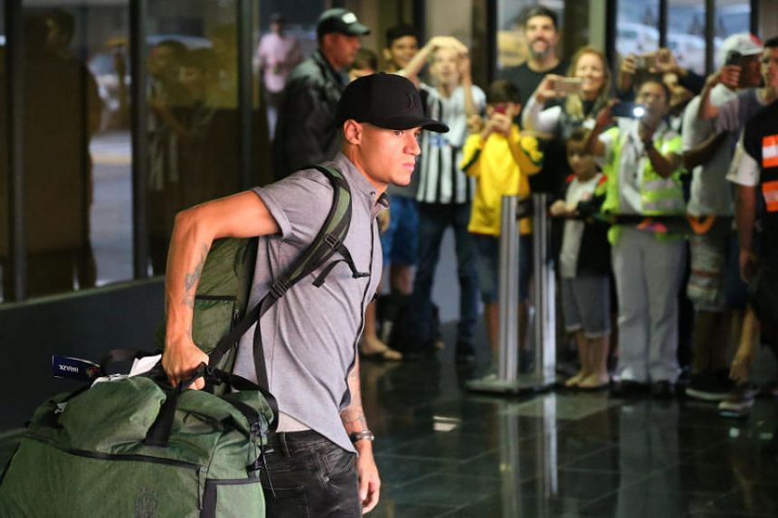 Brazil's Philippe Coutinho arriving at Tom Jobim International Airport in Rio de Janeiro, Brazil, on July 8, 2018.