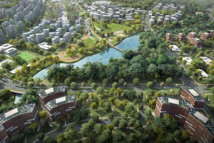 The new Tengah town will have 30,000 flats.