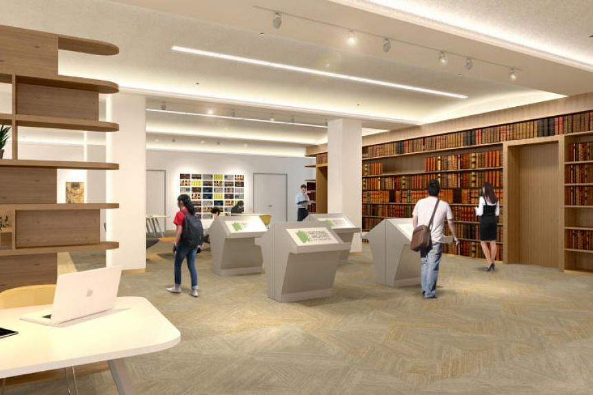 An artist's impression of the Archives Reading Room in the revamped National Archives of Singapore building. The National Library Board now has the power to collect a wider range of Singapore-related materials in electronic form.