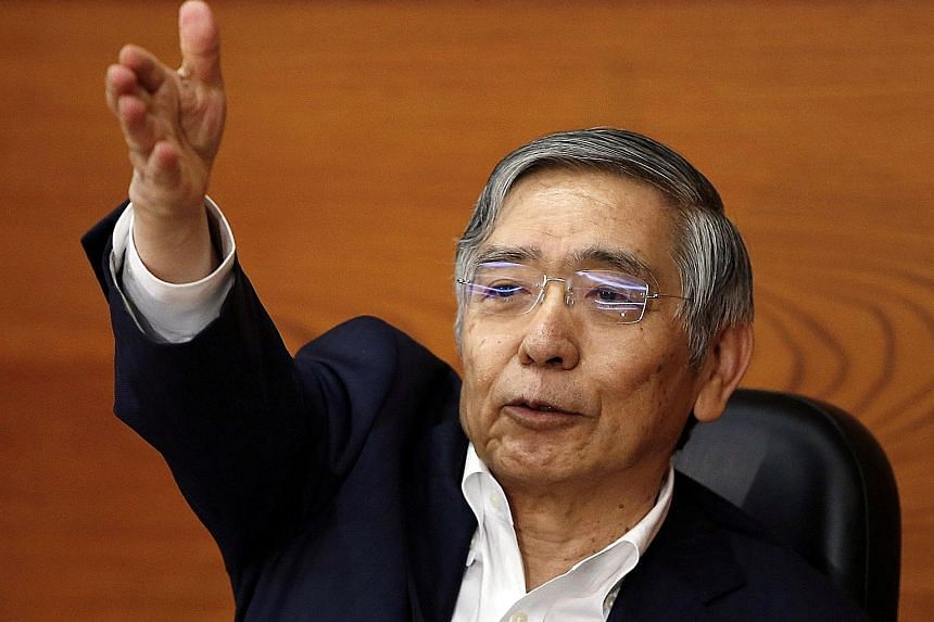 Bank of Japan Governor Haruhiko Kuroda reiterated BOJ will maintain its ultra-loose policy until inflation hits 2 per cent.