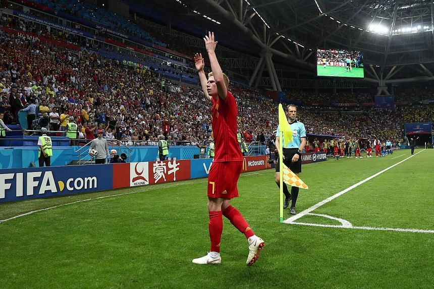 De Bruyne (above) has emerged as arguably the tournament's finest all-action playmaker, marrying driving runs with incisive passing and ferocious shooting.