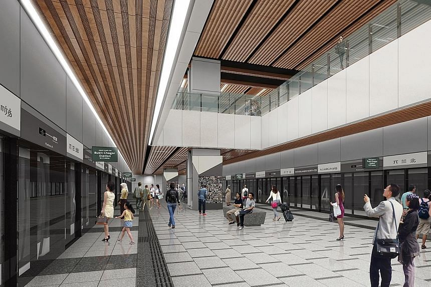 An artist's impression of the Woodlands North Station, part of the planned RTS Link between Woodlands and Johor Baru.
