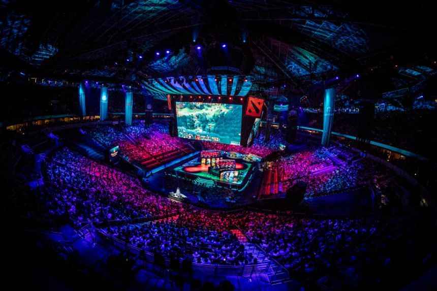 The International 2017 in Seattle, one of the world's largest e-sport events featuring the biggest championship for online multiplayer battle arena Dota 2.