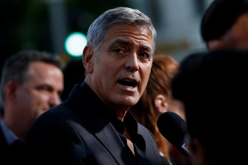George Clooney hurt his leg when a car allegedly turned without giving right of way and collided with his scooter in Sardinia.