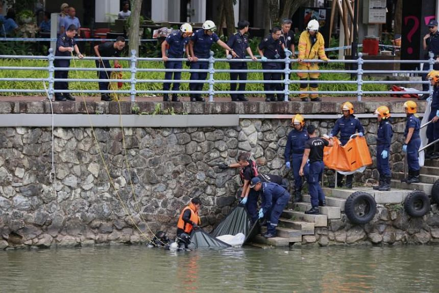 The Singapore Civil Defence Force was alerted to reports of a man entering the Singapore River at 6.50am on July 10, 2018.