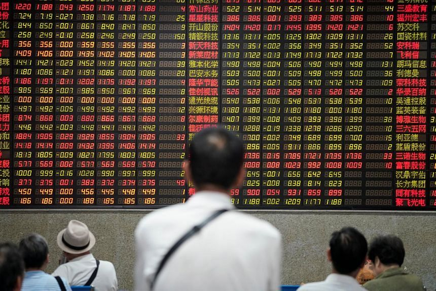 Sentiment has been soothed by a bounce in Chinese shares which saw Shanghai blue chips climb 2.8 per cent on Monday for the biggest daily jump since August 2016.