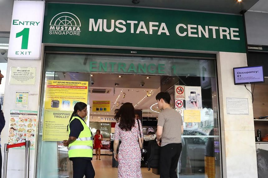 File photo showing an entrance of Mustafa Centre. Its founder, Mustaq Ahmad, and five others are being sued for alleged oppressive conduct under the Companies Act by his step-siblings and their mother.