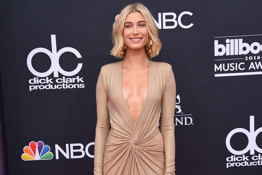 Justin Bieber reportedly popped the question to Hailey Baldwin (above) in a restaurant last Saturday.