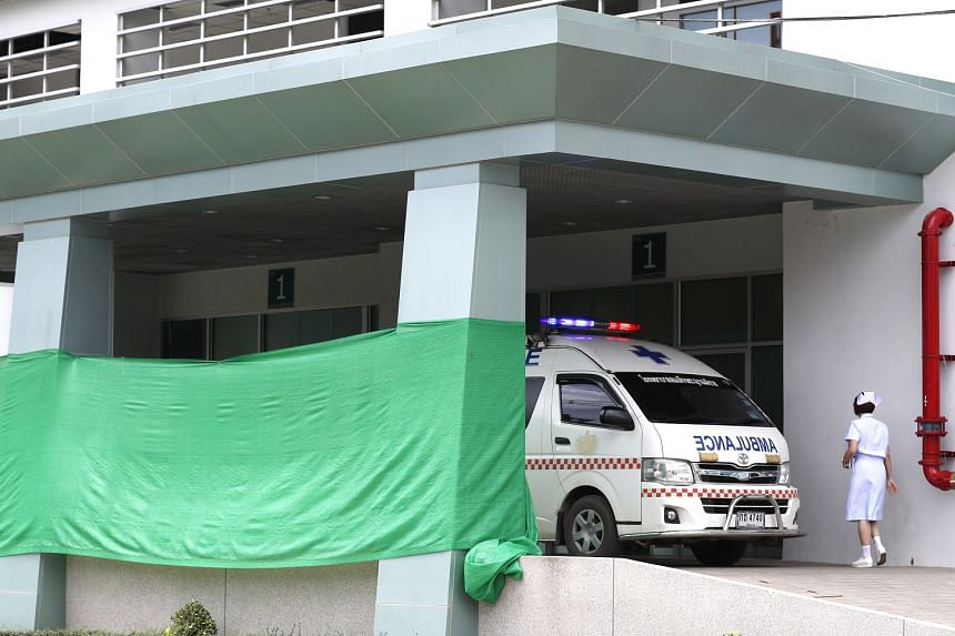 At the hospital in Chiang Rai, green canvas sheets have been put up to block the entrance from view. The first four rescued boys have been placed in a ward set aside specifically for the cave rescue operation.
