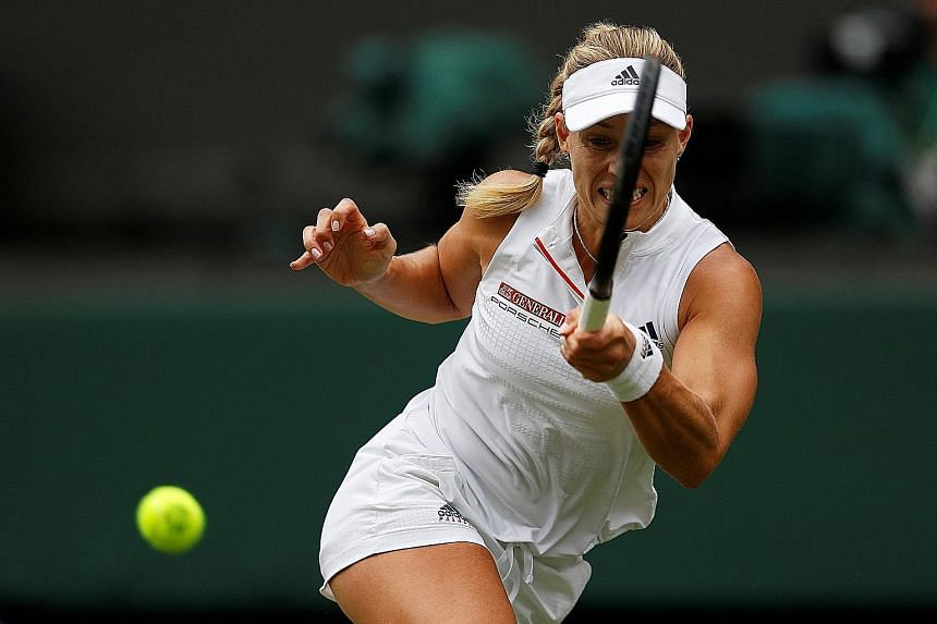 Germany's Angelique Kerber, the 11th seed, needed seven match points to seal a 6-3, 7-5 quarter-final win over Russia's Daria Kasatkina yesterday. Her next opponent will be Latvian 12th seed Jelena Ostapenko.